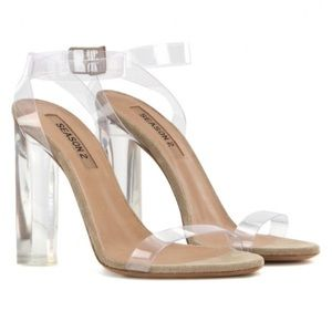 Yeezy Shoes - Yeezy Season 2 Lucite PVC Heel Sandals